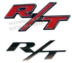 Эмблема Додж R/T 100х45 мм красная - фото 22694