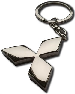 Брелок Митсубиси для ключей бриллиант - фото 25344