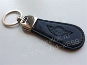 Брелок Мини Купер для ключей овальный кожаный ремешок (lt2)