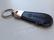 Брелок Рено для ключей овальный кожаный ремешок (lt2)