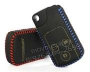 Чехол для смарт ключа Хонда кожаный 3 кнопки, черный
