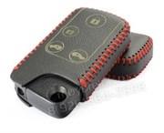 Чехол для смарт ключа Хонда кожаный 4 кнопки, черный
