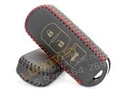 Чехол для смарт ключа Мазда кожаный 3 кнопки, черный