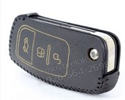 Чехол для ключа Форд Focus кожаный для выкидного ключа 3 кнопки
