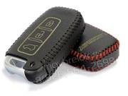 Чехол для смарт ключа Хендэ ix35 кожаный 3 кнопки, ix35 серия, черный