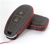 Чехол для смарт ключа Сузуки кожаный 2 кнопки, черный