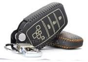 Чехол для ключа Тойота camry кожаный для выкидного ключа (тип 2, 4k)