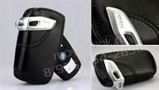 Кожаный выкидной чехол БМВ кожа наппа / (кат.82292219911), черный