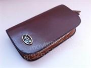 Ключница авто ВИП коричневая на молнии