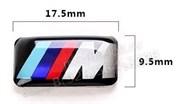 Наклейка БМВ M performance 9,5х17,5 мм