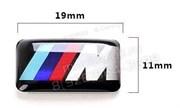 Наклейка БМВ M performance 11х19 мм (в руль)
