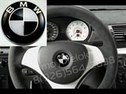 Эмблема БМВ черно-белая в руль (45 мм)