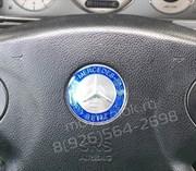 Эмблема Мерседес в руль на 3М скотче (52мм)