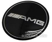 Эмблема Мерседес AMG на 3М скотче (75 мм)