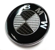 Эмблема БМВ карбон (64 мм), на двустороннем скотче