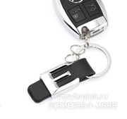 Брелок Мерседес для ключей E-klasse кожаный