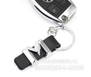 Брелок Мерседес для ключей M-klasse кожаный