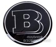 Эмблема Мерседес Brabus на 3М скотче (75 мм)