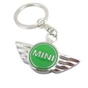 Брелок Мини Купер для ключей зеленый