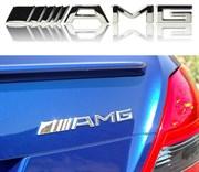 Эмблема Мерседес AMG на багажник (хром, пластик) / (кат.A0008170414)