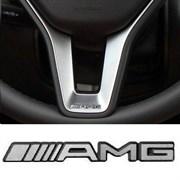 Эмблема Мерседес AMG на спицу руля (35х4 мм)