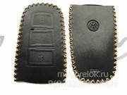 Чехол для смарт ключа Фольксваген Passat мягкая натуральная кожа, черный