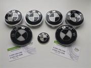 Набор БМВ по кругу, черно-белый (перед + зад + диски + руль + ...)