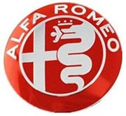 Эмблема Альфа Ромео 75 мм капот, багажник, (металл)