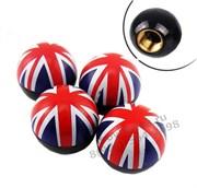 Колпачки на ниппель Мини Купер Британский флаг комплект 4шт