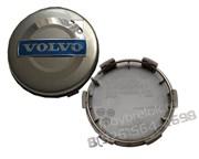 Колпачки в диск Вольво 64/65 мм синие / (кат.3546923)
