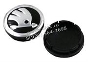 Колпачки на диски Шкода 56/53мм черные 5JA601151FOD