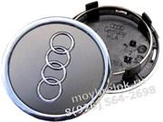 Колпачки в диск Ауди 69/59 мм / (кат.4B0601170A), серые