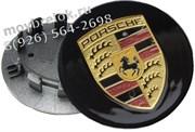 Колпачки в диск Порше Макан 65/50 мм черные (реплика)