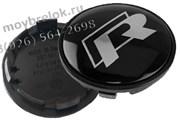 Колпачки в диск Фольксваген R-line 65/59 мм / (кат.3B7601171), пассат гольф 65/59 мм