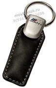 Брелок БМВ M performance для ключей кожаный (q-type), выпуклая эмблема