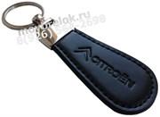 Брелок Ситроен для ключей овальный кожаный ремешок (lt2)