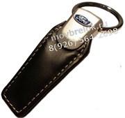 Брелок Форд для ключей кожаный (q-type), выпуклая эмблема