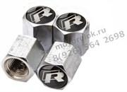 Колпачки на ниппель Фольксваген R-line (шестигр.-хром) комплект 4шт