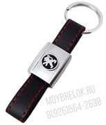 Брелок Пежо для ключей кожаный ремешок (rm)