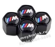 Колпачки на ниппель БМВ M performance (шестигр. черн) комплект 4шт