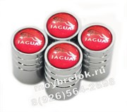 Колпачки на ниппель Ягуар (красн, цилиндр) комплект 4шт