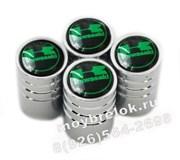 Колпачки на ниппель Кавасаки (зелен.фон, цилиндр) комплект 4шт