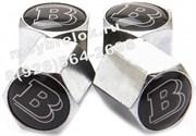 Колпачки на ниппель Мерседес Brabus (шестигр.-хром) комплект 4шт