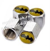 Колпачки на ниппель Бэтмен (шестигр.-хром) комплект 4шт
