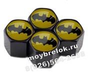 Колпачки на ниппель Бэтмен (шестигр. черн) комплект 4шт