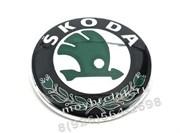 Эмблема Шкода 79 мм зеленая