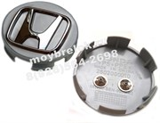 Колпачки в диск Хонда (58/58 мм) хром выпуклая эмблема / (кат.08VV40-SEN-9000-02)
