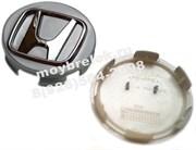 Колпачки в диск Хонда (69/65 мм) хром выпуклая эмблема
