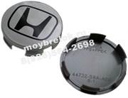 Колпачки в диск Хонда (69/65 мм) серые эмблема плоская / (кат.44732-S9A-A00)