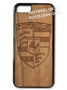 Деревянный чехол Порше на телефон